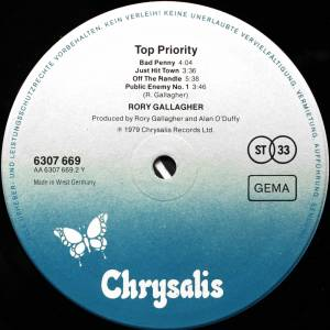 Rory Gallagher: Top Priority (LP) - Bild 6