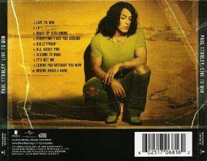 Paul Stanley: Live To Win (CD) - Bild 2
