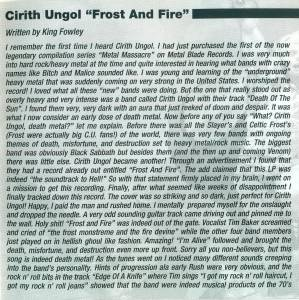Cirith Ungol: Frost And Fire (CD) - Bild 3