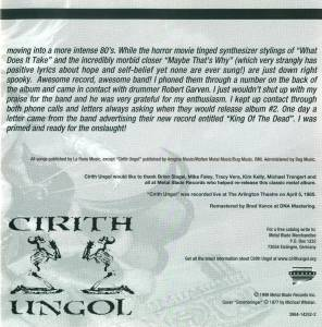 Cirith Ungol: Frost And Fire (CD) - Bild 4