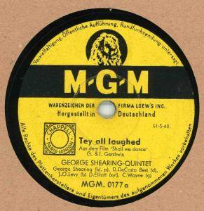 Cover - George Shearing Quintet: They All Laughed