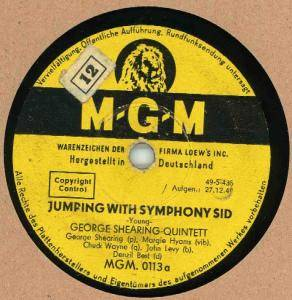 Cover - George Shearing Quintet: Jumping With Symphony Sid