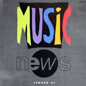 Music News Januar '91 - Cover