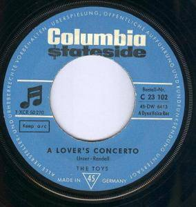 Cover - Toys, The: Lover's Concerto, A