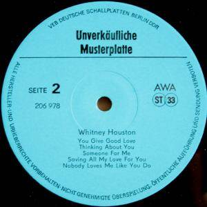 Whitney Houston: Whitney Houston (Promo-LP) - Bild 3