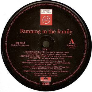 Level 42: Running In The Family (LP) - Bild 5