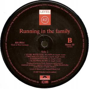 Level 42: Running In The Family (LP) - Bild 6