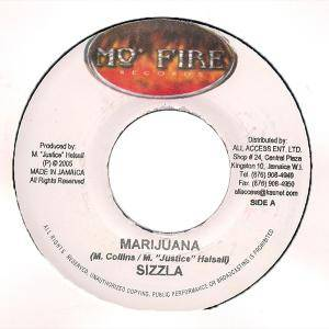Sizzla: Marijuana / Can't Hold Me Down - Cover