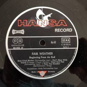 Fair Weather: Beginning From An End (LP) - Bild 2