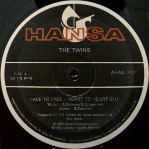 "The Twins: Face To Face - Heart To Heart (12"") - Bild 2"