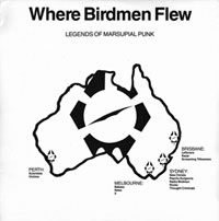 Cover - Various Artists/Sampler: Where Birdmen Flew - Legends Of Marsupial Punk