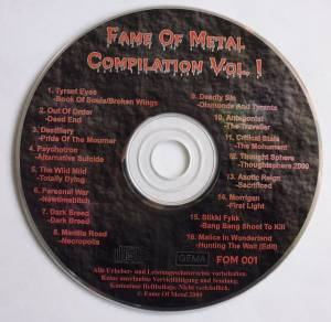 Cover - Destillery: Fame Of Metal - Compilation Vol. 1