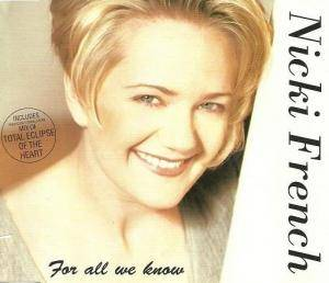 Cover - Nicki French: For All We Know
