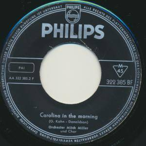 Cover - Mitch Miller: Carolina In The Morning