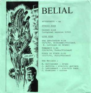 Cover - Belial: Aftertaste