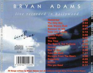 Bryan Adams: Heaven - Live Recorded In Hollywood (CD) - Bild 4