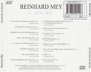 Reinhard Mey: Ich Liebe Dich (CD) - Bild 2