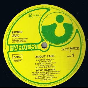 David Gilmour: About Face (LP) - Bild 3