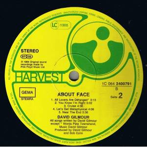 David Gilmour: About Face (LP) - Bild 4