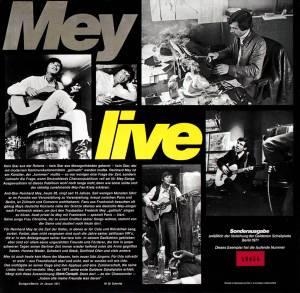Reinhard Mey: Live (2-LP) - Bild 4