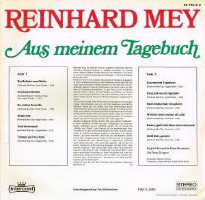 Reinhard Mey: Aus Meinem Tagebuch (LP) - Bild 2