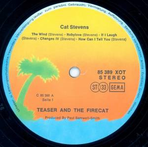 Cat Stevens: Teaser And The Firecat (LP) - Bild 3