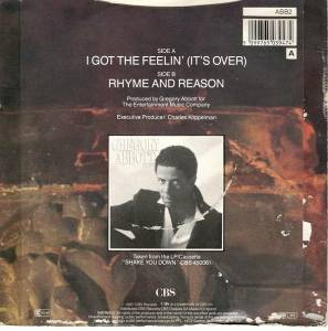 "Gregory Abbott: I Got The Feelin' (It's Over) (7"") - Bild 2"