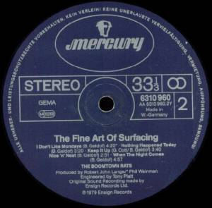 The Boomtown Rats: The Fine Art Of Surfacing (LP) - Bild 6