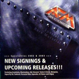 AFM Records New Signings & Upcoming Releases!!! - Specialties 2002 & 2003 - Cover
