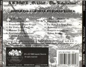 Abigor: Orkblut - The Retaliation (Mini-CD / EP) - Bild 2