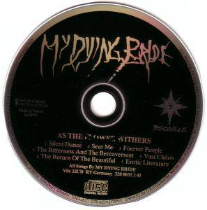 My Dying Bride: As The Flower Withers (CD) - Bild 3