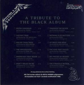 Metal Hammer Legenden - Metallica - A Tribute To The Black Album (CD) - Bild 2