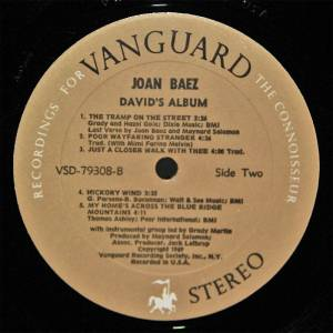 Joan Baez: David's Album (LP) - Bild 2