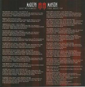 Marilyn Manson: Lest We Forget - The Best Of (CD) - Bild 9