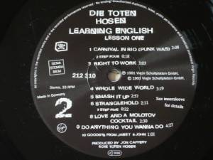 Die Toten Hosen: Learning English, Lesson 1 (LP) - Bild 4