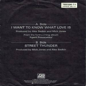 "Foreigner: I Want To Know What Love Is (7"") - Bild 2"