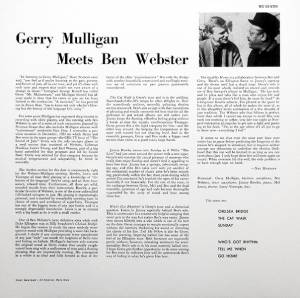 Gerry Mulligan & Ben Webster: Gerry Mulligan Meets Ben Webster (LP) - Bild 2