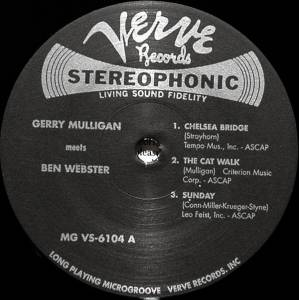 Gerry Mulligan & Ben Webster: Gerry Mulligan Meets Ben Webster (LP) - Bild 3