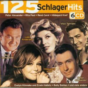 Cover - Goldy & Peter de Vries: 125 Schlager Hits