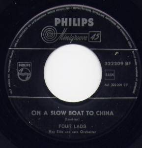Cover - Four Lads, The: On A Slow Boat To China