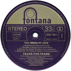 Tears For Fears: The Seeds Of Love (LP) - Bild 5