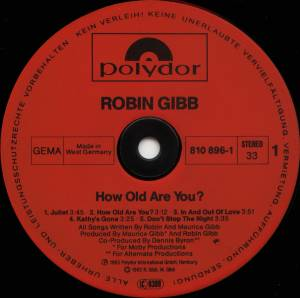 Robin Gibb: How Old Are You? (LP) - Bild 3