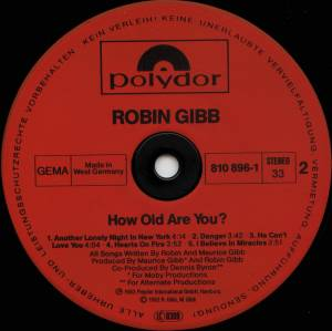 Robin Gibb: How Old Are You? (LP) - Bild 4