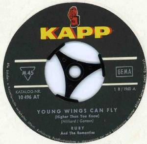 Cover - Ruby & The Romantics: Young Wings Can Fly
