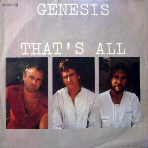 Genesis: That's All - Cover