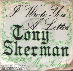 Cover - Tony Sheridan: I Wrote You A Letter