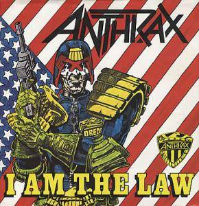Anthrax: I Am The Law - Cover