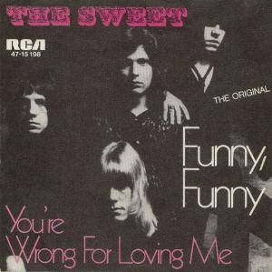 The Sweet: Funny, Funny - Cover