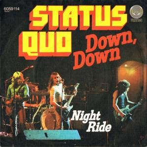 Status Quo: Down Down - Cover
