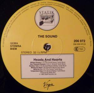 The Sound: Heads And Hearts (LP) - Bild 5